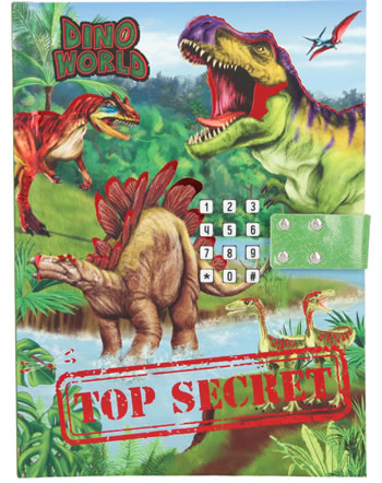 DINO WORLD diary with secret code and sound Top Secret