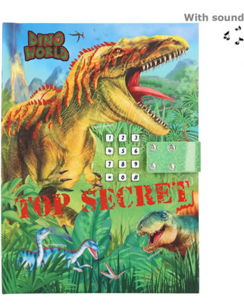 DINO WORLD diary with secret code and sound Top Secret 11569