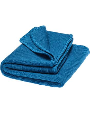 Disana Baby Sommer-Decke Schurwolle 100x80 cm GOTS karibikblau 7711221001