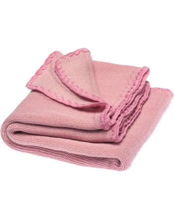 Disana Baby Sommer-Decke Schurwolle 100x80 cm GOTS natur-rosa 7711913001