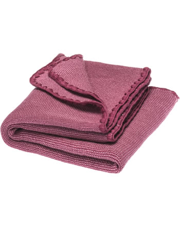Disana Baby Summer Blanket 100x80 cm GOTS raspberry-dry rose 7711913001