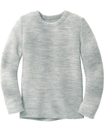 Disana Linksstrick-Pullover Schurwolle GOTS grau 3114121