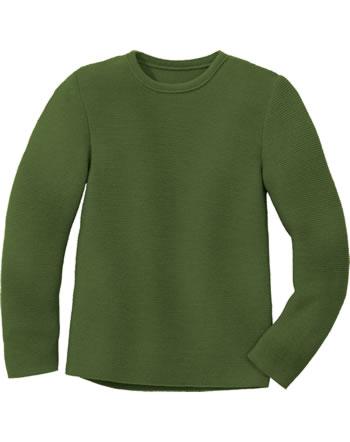 Disana Linksstrick-Pullover Schurwolle GOTS oliv 3114581