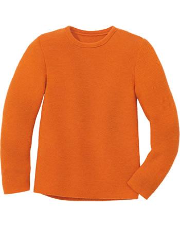 Disana Linksstrick-Pullover Schurwolle GOTS orange 3114771