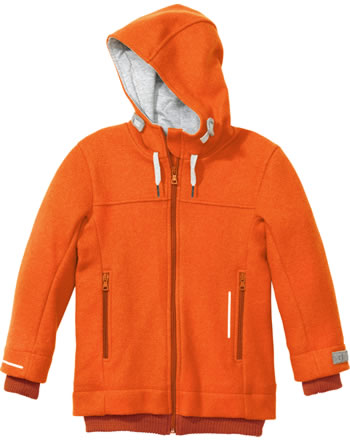 Disana Outdoor-Jacke m. Kapuze Schurwolle GOTS orange 3222771