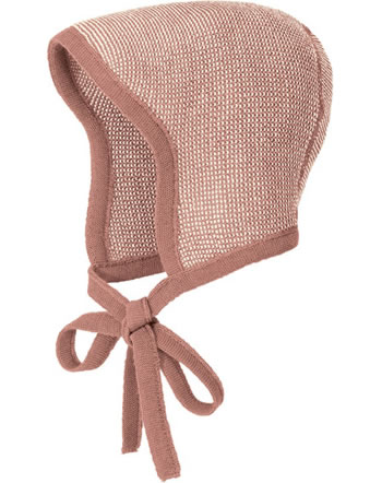 Disana Knitted Bonnet GOTS rosé-natural 3611931