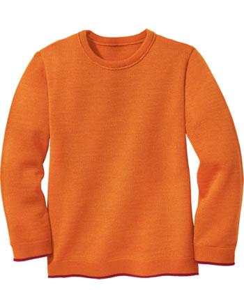 Disana Strick-Pullover Schurwolle GOTS orange 3113771
