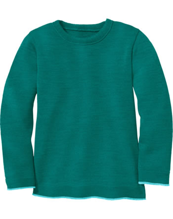 Disana Strick-Pullover Schurwolle GOTS pacific 3113281