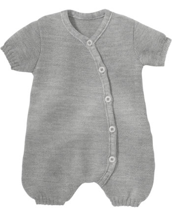 Disana Romper short GOTS light grey 7411120