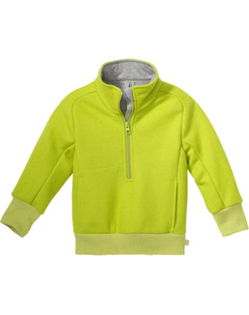 Disana Half-Zip Sweater GOTS granny smith 7121 521