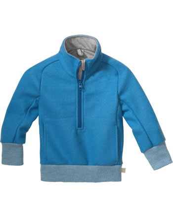 Disana Half-Zip Sweater GOTS blue jay 7121 221
