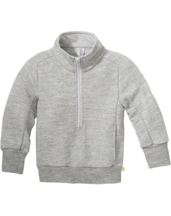 Disana Half-Zip Sweater GOTS light grey 7121 120