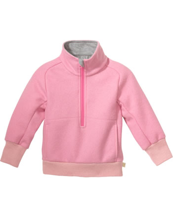 Disana Half-Zip Sweater GOTS raspberry yoghurt 7121 316