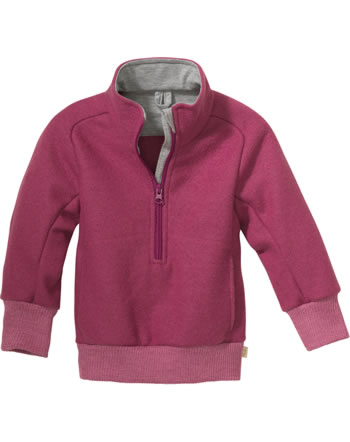 Disana Half-Zip Sweater GOTS dry rose 7121 366