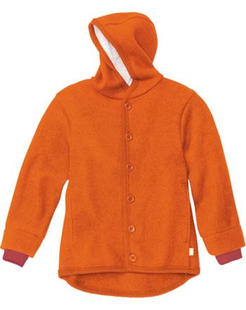 Disana Walk-Jacke m. Kapuze Schurwolle GOTS orange 3221771