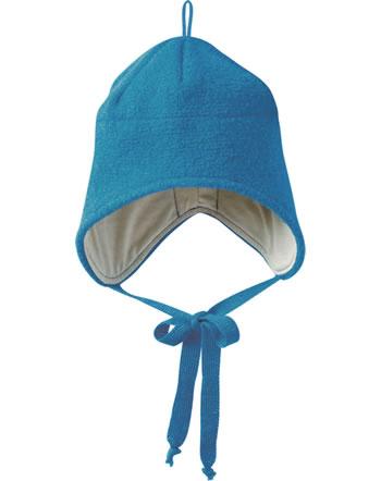 Disana Walk-Mütze m. Bänder Schurwolle GOTS blau 3621222
