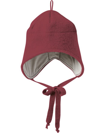 Disana Boiled Wool Hat GOTS bordeaux 3621398