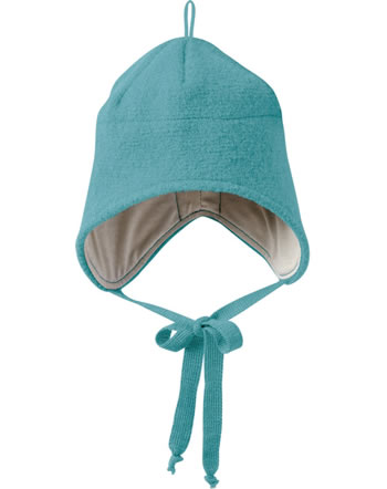 Disana Boiled Wool Hat GOTS lagoon 3621219