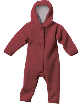 Disana Boiled Wool Overall GOTS bordeaux 3421398