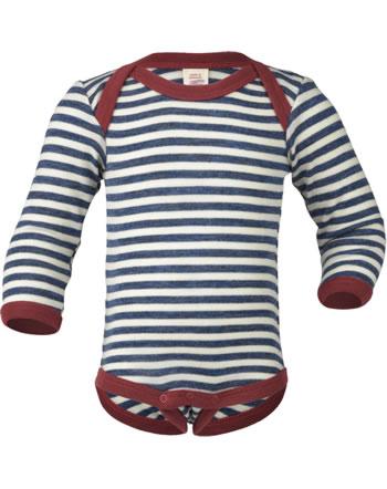 Engel Bodysuit long sleeve wool IVN BEST blue mel./natur 429010-081