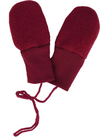 Engel Baby-Fäustel Fleecehandschuhe IVN-BEST rot melange 575570-060