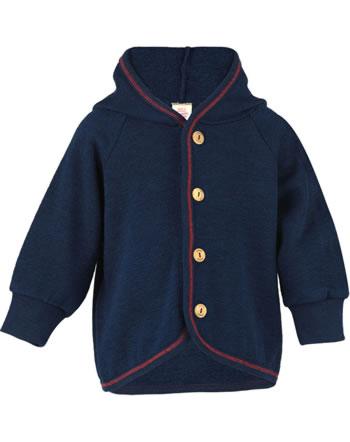 Engel Baby-Frottee-Jacke mit Kapuze und Holzknöpfen marine IVN-BEST 555520-33