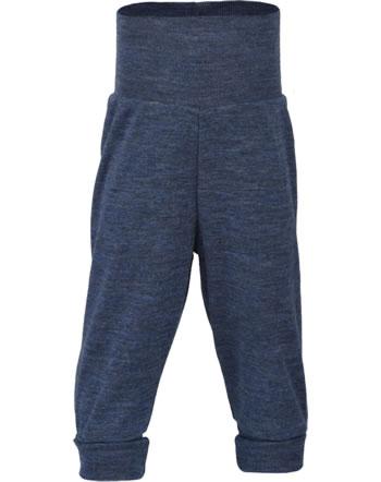 Engel Baby trousers w. high waistband IVN-BEST blue melange 403501-080