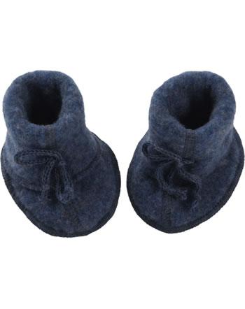 Engel Baby-Schühchen mit Bändel Fleece IVN BEST blau melange 575582-080