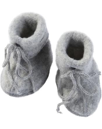 Engel Baby-Schühchen mit Bändel Fleece IVN BEST hellgrau melange 575582-091