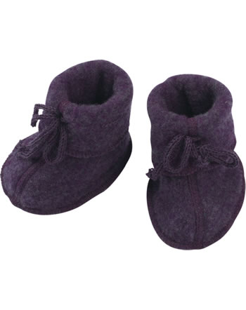 Engel Baby-Schühchen mit Bändel Fleece IVN BEST lila melange 575582-059E