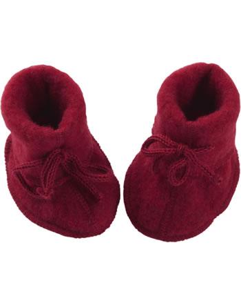Engel Baby-Schühchen mit Bändel Fleece IVN BEST rot melange 575582-060
