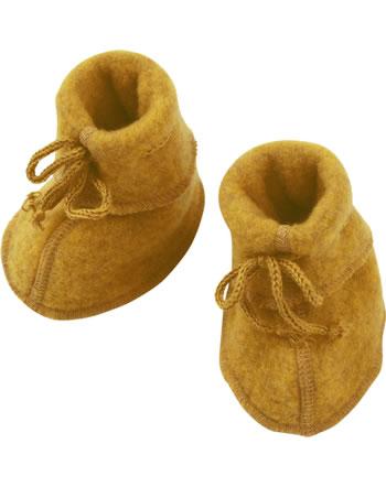 Engel Baby-Schühchen mit Bändel Fleece IVN BEST safran melange 575582-018E