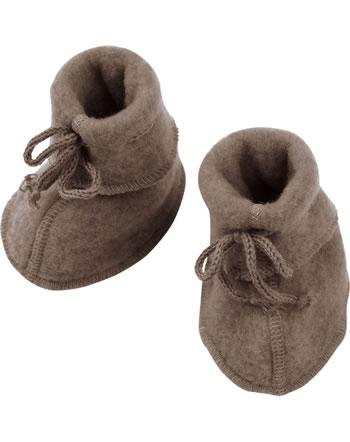 Engel Baby-Schühchen mit Bändel Fleece IVN BEST walnuss melange 575582-075