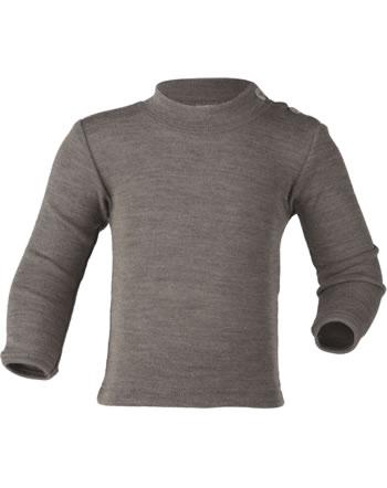 Engel Baby Shirt Langarm Stehkragen Wolle/Seide walnuss 705110-75 GOTS
