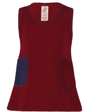 Engel Baby Träger-Kleid Frottee Schurwolle rot melange 555850-060 IVN-BEST