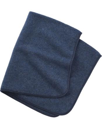 Engel Fleece-Baby-Decke IVN-BEST Schurwolle blau melange 578500-080