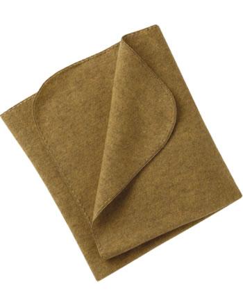 Engel Fleece-Baby-Decke Muschelkante IVN-BEST safran melange 578501-018E