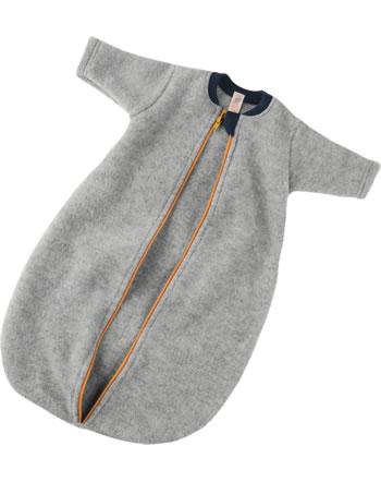 Engel Fleece Baby Schlafsack mit Reißverschluss hellgrau melange 576010-091