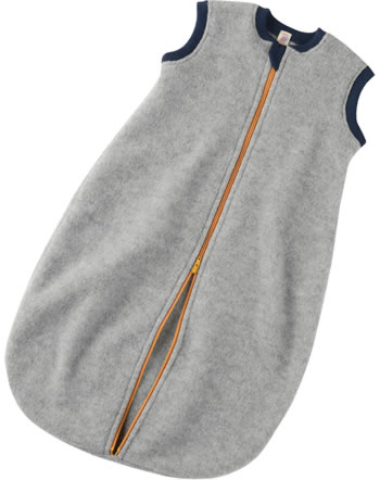 Engel Fleece Baby Schlafsack mit Reißverschluss hellgrau melange 576030-091