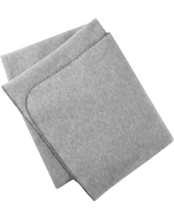 Engel Fleece-Decke Muschelkante IVN-BEST hellgrau melange 578530-091