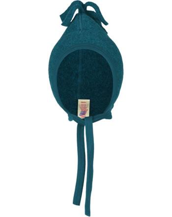 Engel Fleece-Mütze Schurwolle petrol melange 575450-36 IVN-BEST