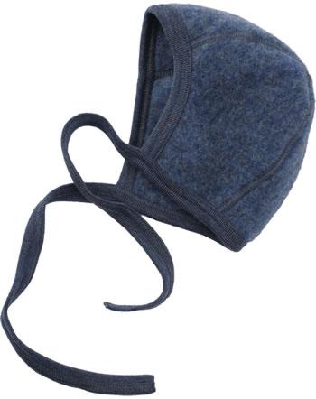 Engel Fleecemütze Schurwolle IVN-BEST blau melange 575550-080