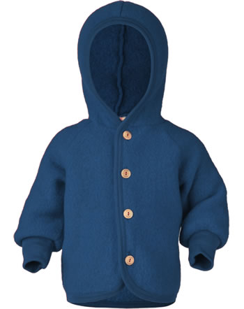 Engel Kinder Kapuzen-Jacke Fleece blau melange 575520-080 IVN-BEST