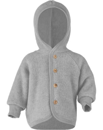 Engel Kinder Kapuzen-Jacke Fleece hellgrau mel. 575520-091  IVN-BEST