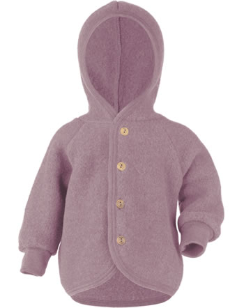 Engel Kinder Kapuzen-Jacke Fleece rosenholz melange 575520-051E IVN-BEST