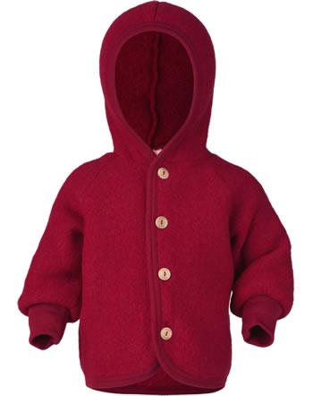 Engel Kinder Kapuzen-Jacke Fleece rot melange 575520-060  IVN-BEST