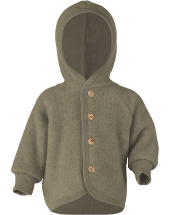 Engel Kinder Kapuzen-Jacke Fleece walnuss melange 575520-075 IVN-BEST