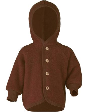 Engel Kinder Kapuzen-Jacke Fleece zimt melange 575520-079E IVN-BEST