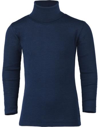 Engel Kinder Rollkragen-Shirt Langarm Wolle/Seide marine 707410-33 GOTS