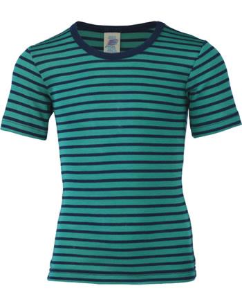 Engel Kinder Shirt/Unterhemd Kurzarm Wolle/Seide GOTS eisv./marine 727800-3533E